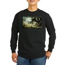 Great Black Dragon Long Sleeve T-Shirt