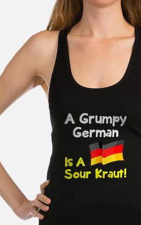 Grumpy German Racerback Tank Top