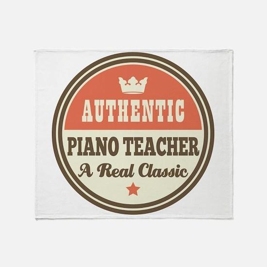 Authentic Piano Teacher Throw Blanket