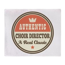 Choir Director Vintage Throw Blanket