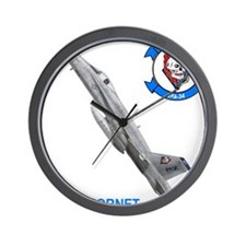 Cute Jet blue Wall Clock