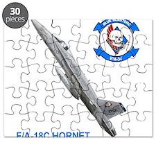 Cute Jet blue Puzzle