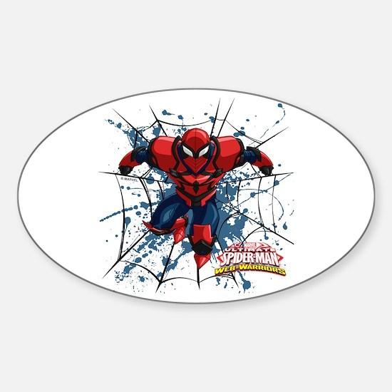 Spyder Knight Web Sticker (Oval)