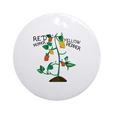 Red Pepper Ornament (Round)