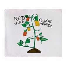 Red Pepper Throw Blanket