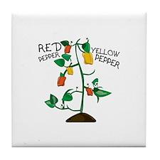 Red Pepper Tile Coaster