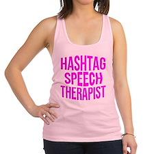 Hashtag Speech Therapist Racerback Tank Top