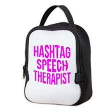 Hashtag Speech Therapist Neoprene Lunch Bag