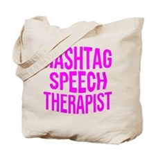 Hashtag Speech Therapist Tote Bag