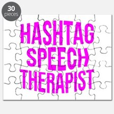 Hashtag Speech Therapist Puzzle