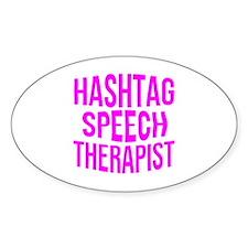 Hashtag Speech Therapist Decal