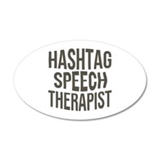 Hashtag Speech Therapist Wall Decal