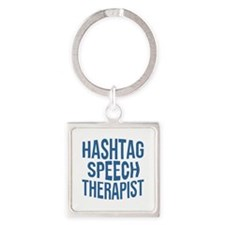 Hashtag Speech Therapist Square Keychain