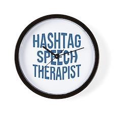 Hashtag Speech Therapist Wall Clock