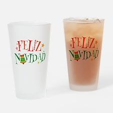 Feliz Navidad Christmas Drinking Glass
