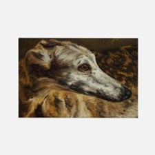 Cute Greyhound Rectangle Magnet (10 pack)