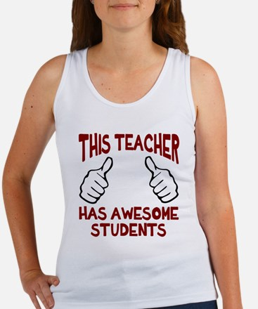 This teacher awesome students Women's Tank Top