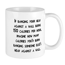 Banging head against the wall Mug