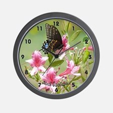 Black Swallowtail Wall Clock