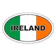 Cute Ireland oval flag Decal