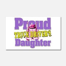 Proud Truck Drivers Daughter Car Magnet 20 x 12