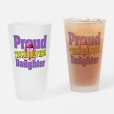 Proud Truck Drivers Daughter Drinking Glass