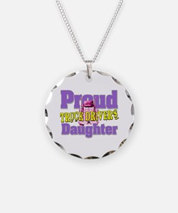 Proud Truck Drivers Daughter Necklace