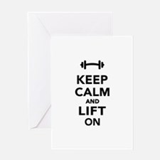 Keep calm and lift on weights Greeting Card