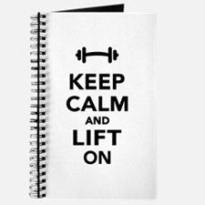 Keep calm and lift on weights Journal