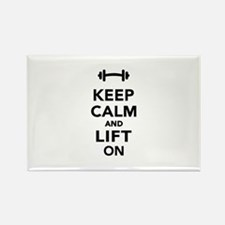 Keep calm and lift on weights Rectangle Magnet