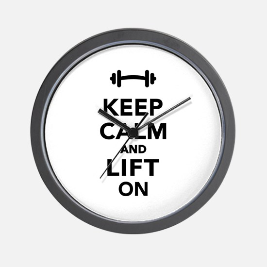 Keep calm and lift on weights Wall Clock