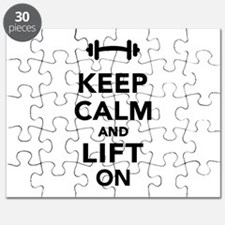 Keep calm and lift on weights Puzzle
