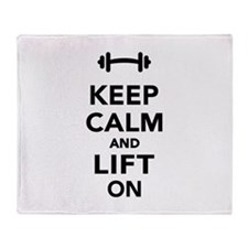 Keep calm and lift on weights Throw Blanket