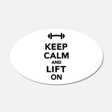 Keep calm and lift on weight Wall Decal