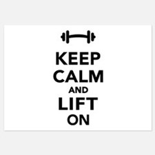 Keep calm and lift on weights Invitations