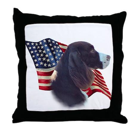 English Springer Flag Throw Pillow