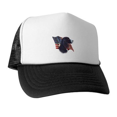 English Springer Flag Trucker Hat