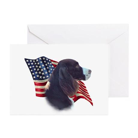 English Springer Flag Greeting Cards (Pk of 10