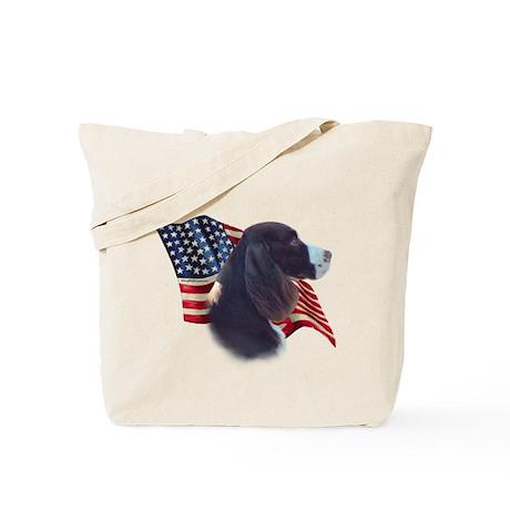 English Springer Flag Tote Bag