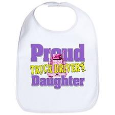 Proud Truck Drivers Daughter Bib