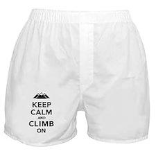 Keep calm climb on mountains Boxer Shorts