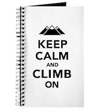 Keep calm climb on mountains Journal