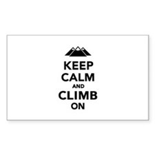Keep calm climb on mountains Decal