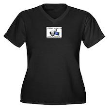 hidden cams Women's Plus Size V-Neck Dark T-Shirt