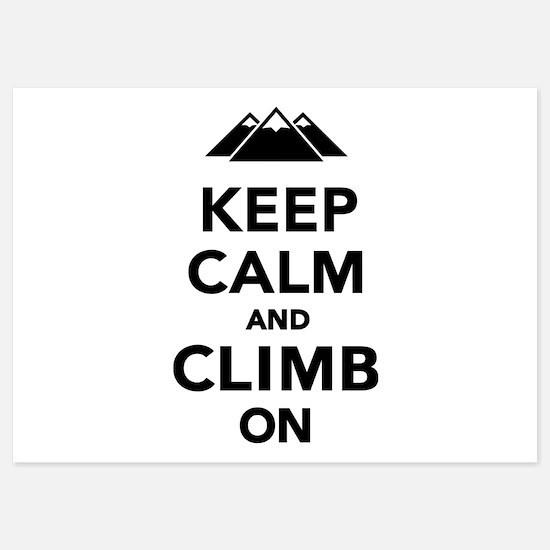 Keep calm climb on mountains 5x7 Flat Cards