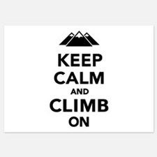 Keep calm climb on mountains Invitations