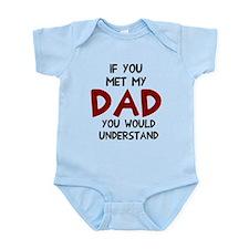 If you met my dad Infant Bodysuit