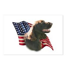 Field Spaniel Flag Postcards (Package of 8)