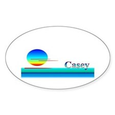 Casey Oval Decal