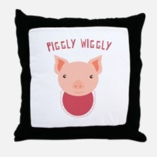 Piggly Wiggly Throw Pillow